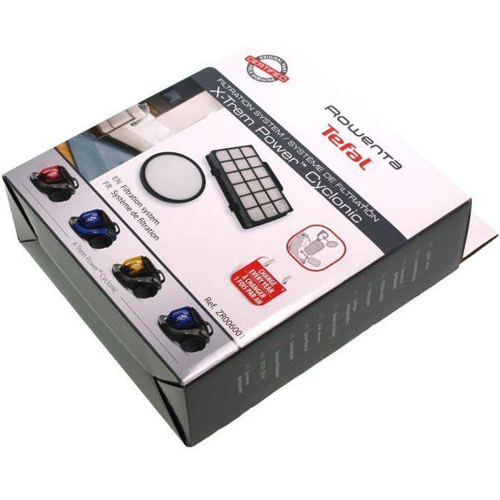 Kit filtres X-TREM POWER CYCLONIC d'origine - Aspirateur - ROWENTA, MOULINEX (61704)
