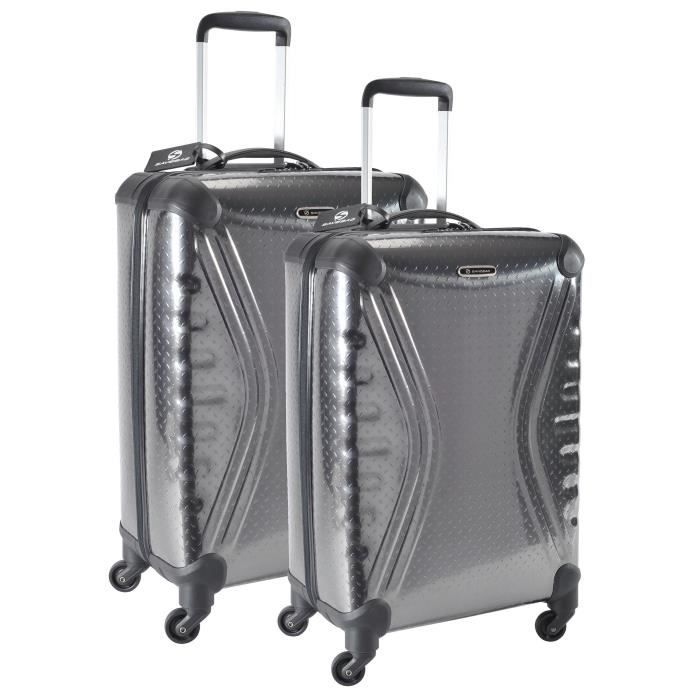 SAVEBAG Set de 2 valises à 4 roues CARBOSITE - Gris anthracite