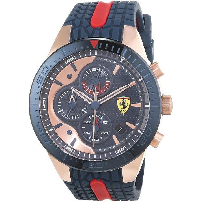 Scuderia Ferrari Hommes Chronographe Quartz Montres bracelet avec bracelet en Silicone - 830591 4785