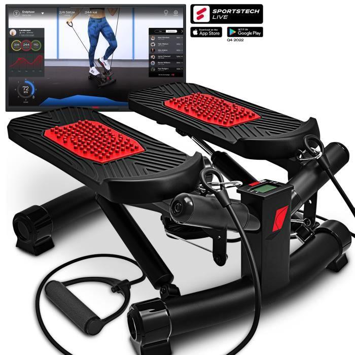 Stepper twister compteur STX300 haut bas up down cordes élastiques sangles tractions écran fitness maison intérieur musculation
