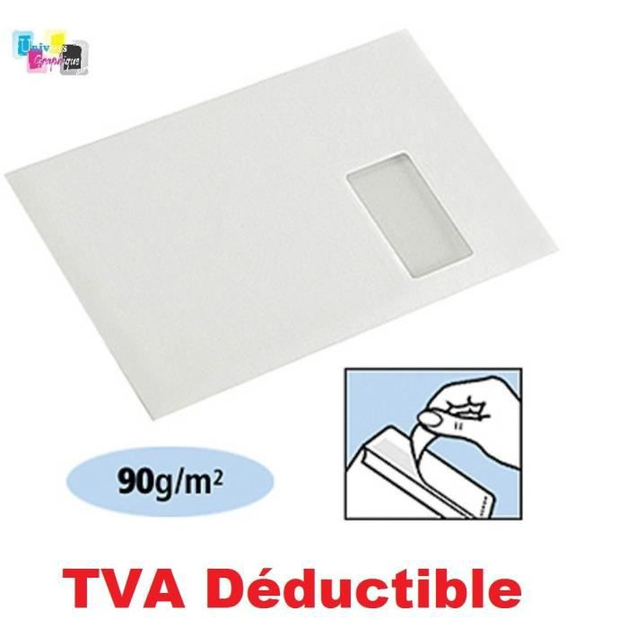 100 ex Grande enveloppe avec fenetre pochette courrier A4 C4 papier kraft blanc 90 g format 229 x 324 mm une enveloppe blanche avec