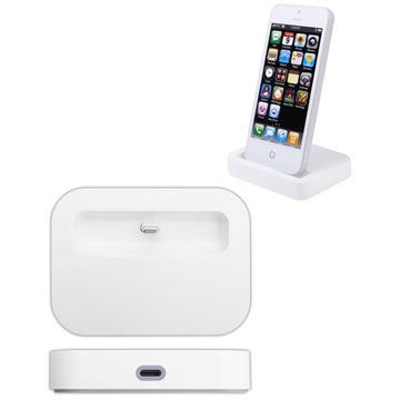 dock blanc usb lightning iphone 5 achat chargeur t l phone pas cher avis et meilleur prix. Black Bedroom Furniture Sets. Home Design Ideas