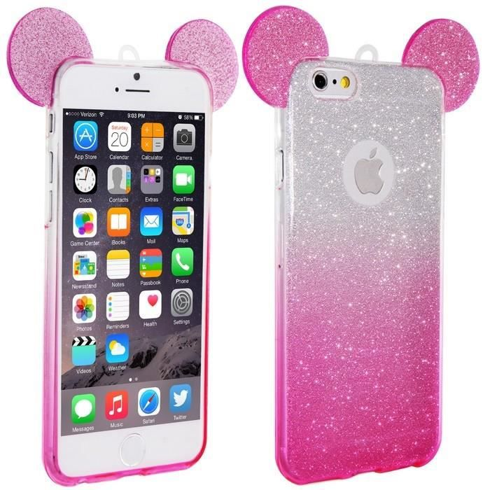 coque silicone iphone 6 6s oreilles de mickey pail