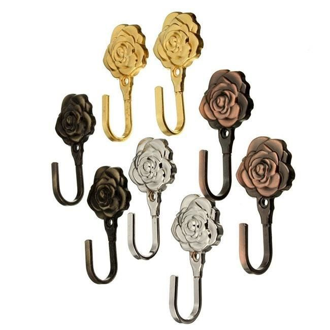 EMBRASSE - CORDON Un Paires Rose Motif métal rideau argent   argent