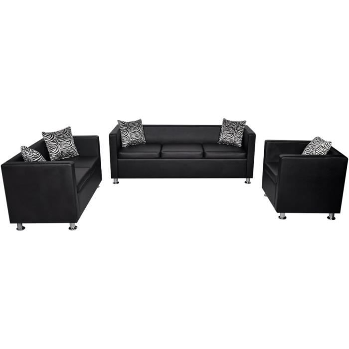 canape cuir 3 places avec fauteuil achat vente canape. Black Bedroom Furniture Sets. Home Design Ideas
