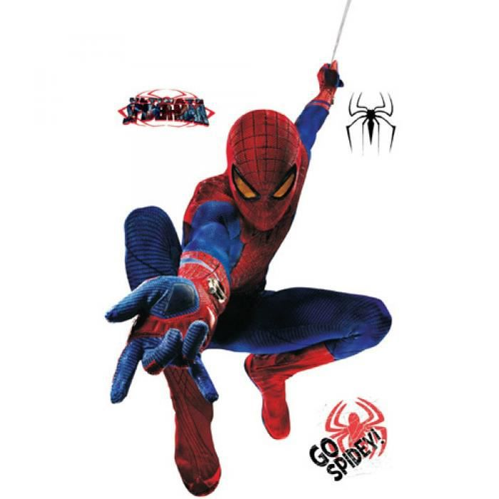 Grand 3d spiderman stickers muraux pour enfants amovible stickers muraux dessins anim s movie - Dessins animes spiderman ...