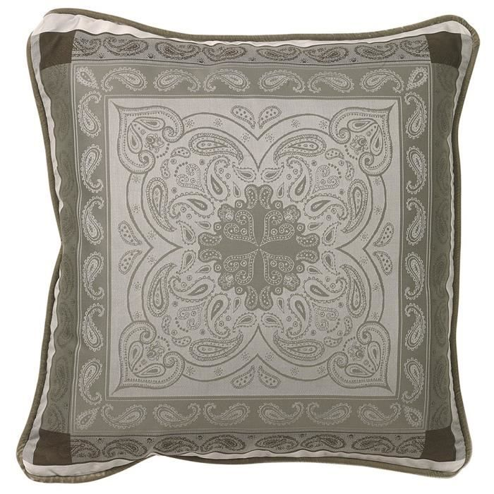 housse de coussin pashmina marron glace 50x50 achat. Black Bedroom Furniture Sets. Home Design Ideas
