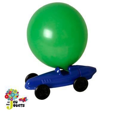voiture ballon vehicule de course propulsion a air jouet enfant 4 ans bleu achat vente. Black Bedroom Furniture Sets. Home Design Ideas