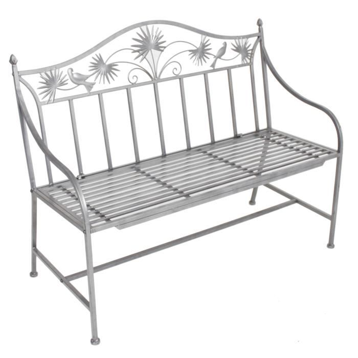 banc de jardin en fer forg metal achat vente banc d. Black Bedroom Furniture Sets. Home Design Ideas