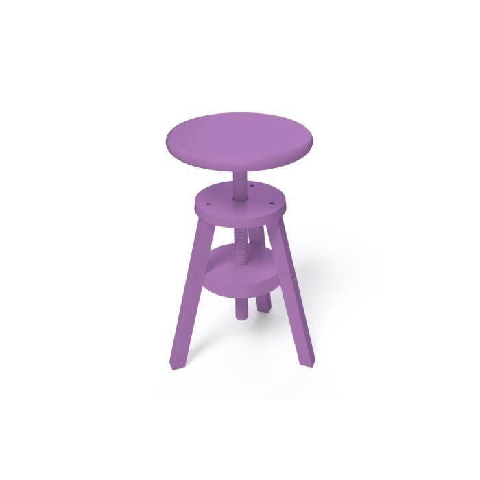 tabouret vis achat vente tabouret violet cdiscount. Black Bedroom Furniture Sets. Home Design Ideas