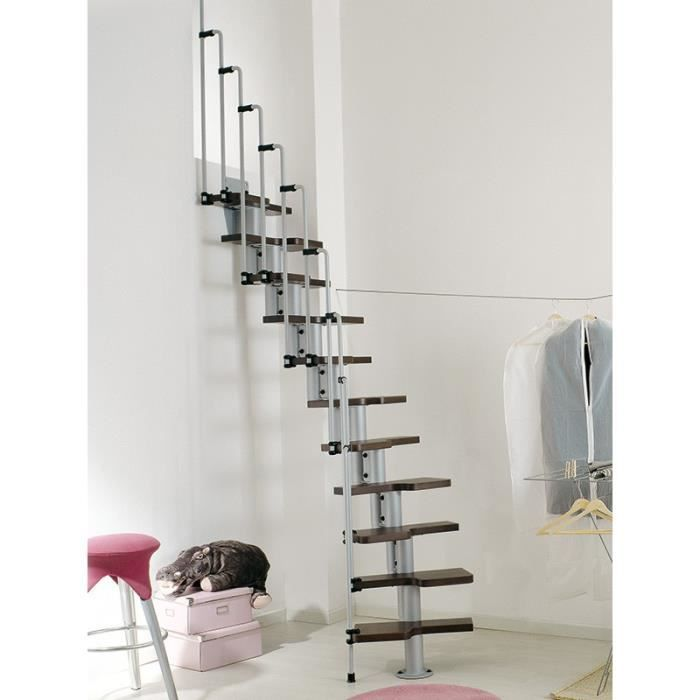 escalier gain de place karina de chez fontanot largeur 57cm hauter 231 280cm 11 marches 12. Black Bedroom Furniture Sets. Home Design Ideas