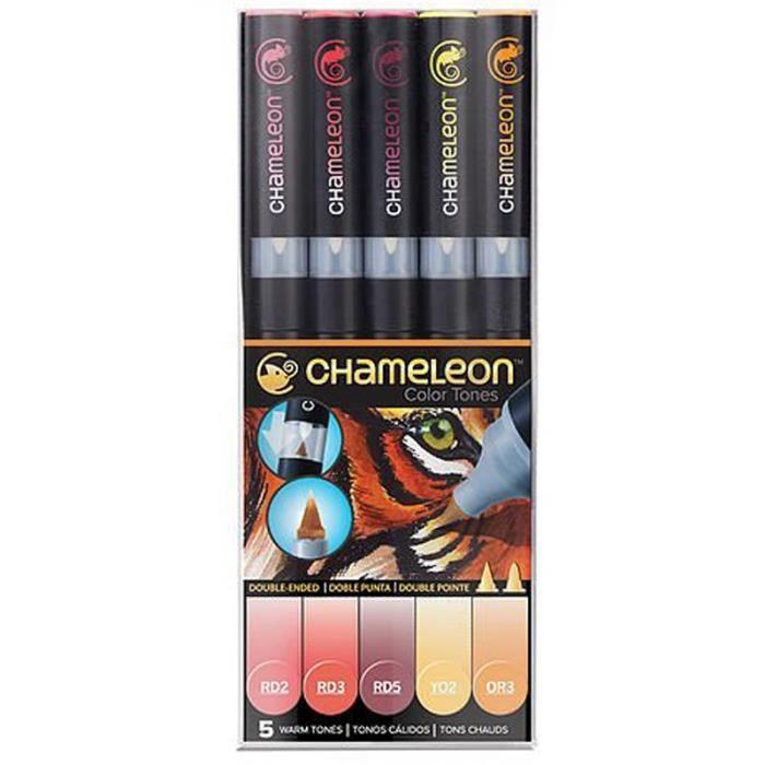 Photo de chameleon-feutres-couleurs-tons-chauds-5-feutres-ct0511
