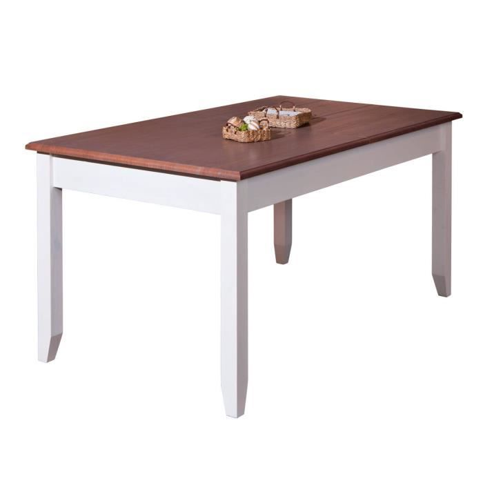 Table cassala 1 2 rallonge 160 200x90 blanc sepia for 2 sous de table