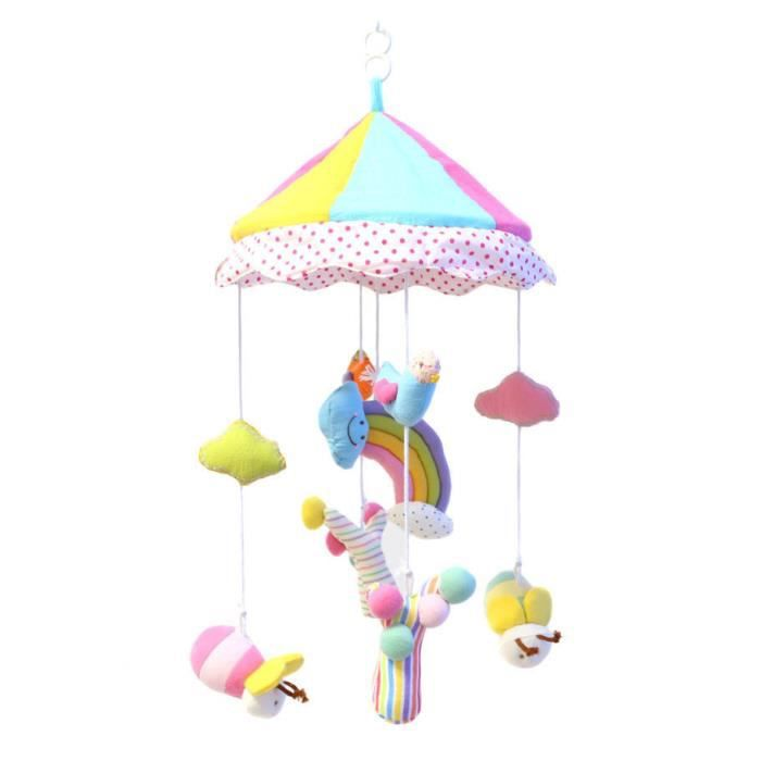 arc en ciel parapluie b b jouet multicolore ducative mobile lit b b lits b b s tournent. Black Bedroom Furniture Sets. Home Design Ideas