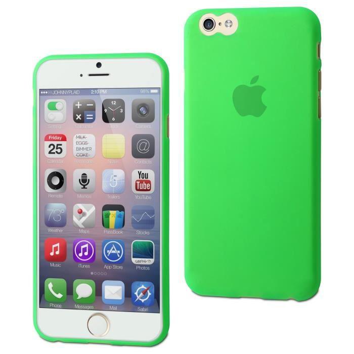 coque souple thingel verte pour apple iphone 6