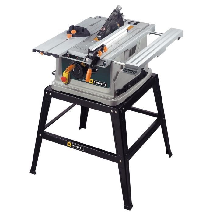 peugeot scie circulaire de table energysaw254c 254mm 1800w pointage laser lame 40 dents. Black Bedroom Furniture Sets. Home Design Ideas