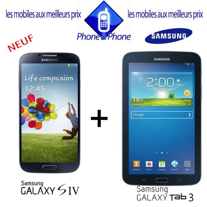 samsung galaxy s4 galaxy tab3 wifi achat smartphone. Black Bedroom Furniture Sets. Home Design Ideas