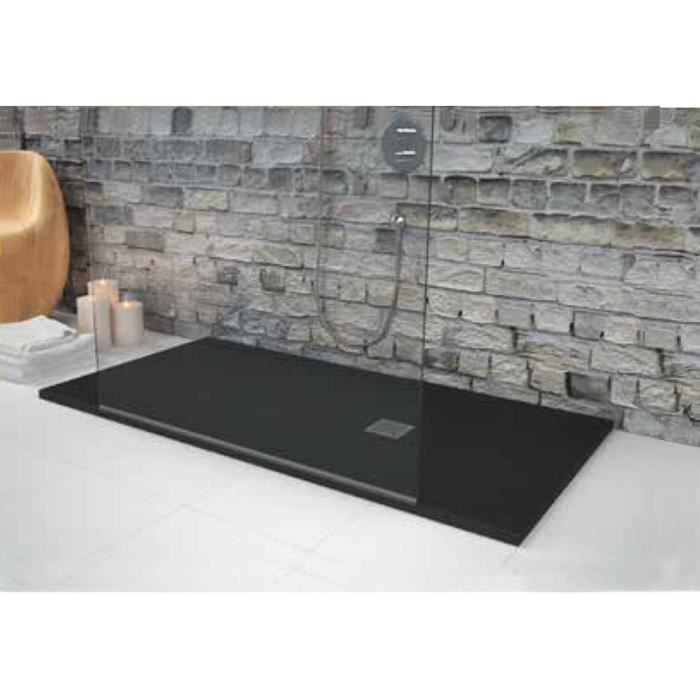 receveur de douche 180 x 90 cm extra plat strato noir. Black Bedroom Furniture Sets. Home Design Ideas
