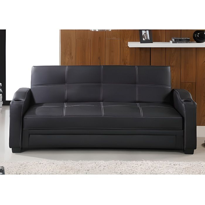 canap convertible clic clac en simili mirella n achat vente clic clac. Black Bedroom Furniture Sets. Home Design Ideas