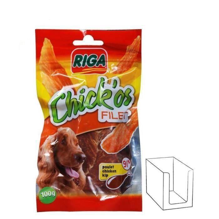 RIGA Chick'os Filets de poulet pour chien 3 x 100g