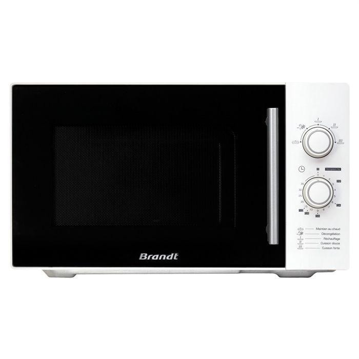 BRANDT SM2602W Micro-ondes monofonction - 26 L - 900 W - Blanc - Pose libre