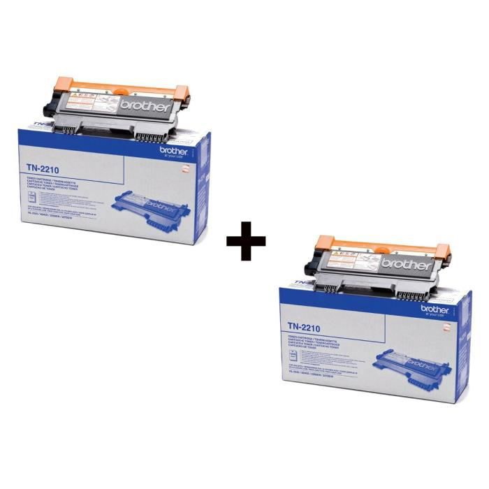 Brother TN-2210 Toner Laser Noir (1200 pages) x2