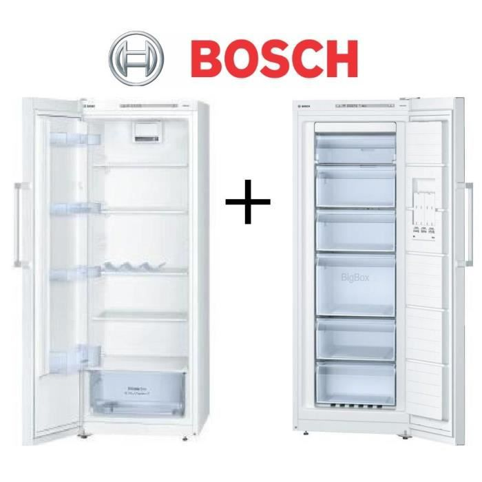 pack froid bosch ksv29nw30 r frig rateur 290l froid brass blanc gsn29mw30 cong lateur 195l. Black Bedroom Furniture Sets. Home Design Ideas