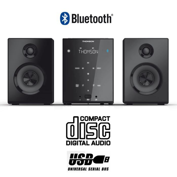 thomson mic102b micro cha ne hifi bluetooth achat. Black Bedroom Furniture Sets. Home Design Ideas
