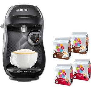MACHINE À CAFÉ BOSCH Tassimo HAPPY TAS1002C + 4 packs de T-Discs