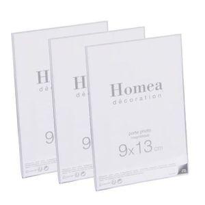 CADRE PHOTO Lot de 3 porte-photos magnétiques Homea 9x13 cm tr