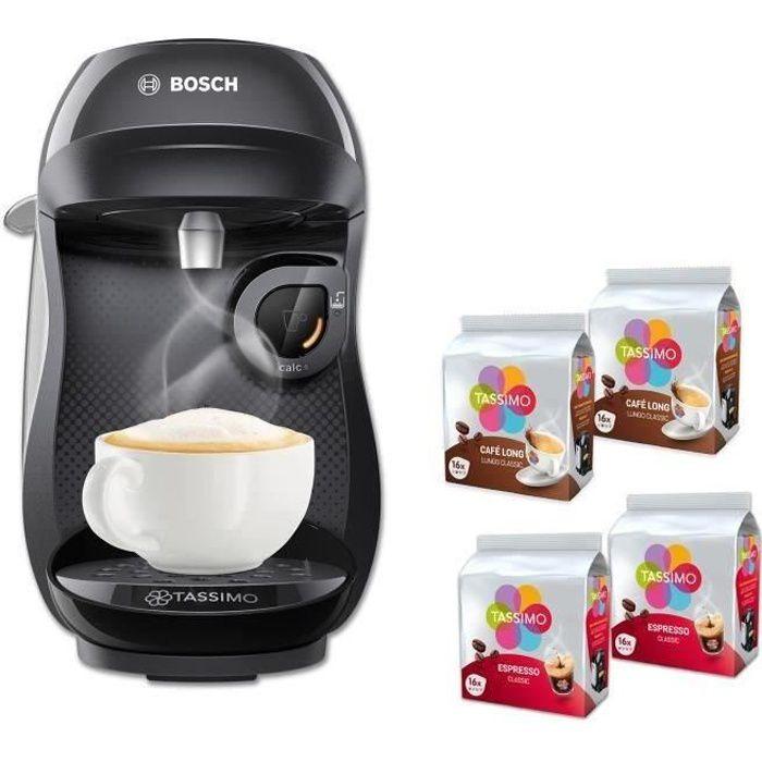 MACHINE À CAFÉ BOSCH Tassimo HAPPY TAS1002C + 4 packs de T-Discs