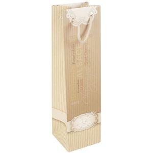 Boîte cadeau Pochette à bouteille Kaki