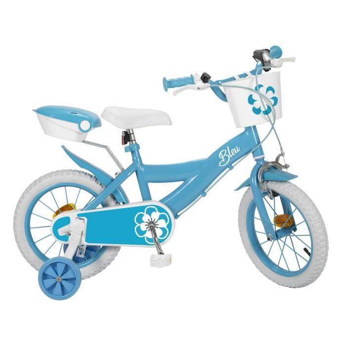 """VÉLO ENFANT Mon Vélo 14"""" Equipé - Enfant Fille - Bleu"""