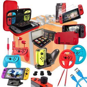 DOCK DE CHARGE MANETTE Kit pack accesoires nintendo switch 9en1 dont : et