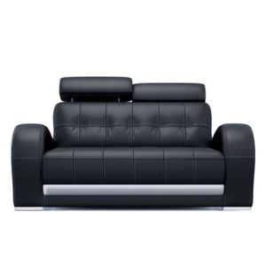 canap 2 places rouge design en cuir achat vente canap sofa divan cuir bois. Black Bedroom Furniture Sets. Home Design Ideas