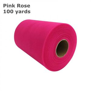 BANDEROLE - BANNIÈRE Version Rose Rose - Rouleau De Tulle   15 Cm * 100