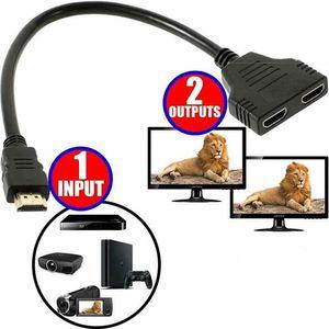 REPARTITEUR TV Adaptateur Prise HDMI Mâle vers Double HDMI Femell