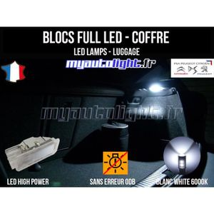 AMPOULE TABLEAU BORD Modules Blocs Full LED éclairage de coffre - compa