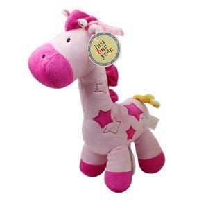 DOUDOU Rose Mignonne Girafe Peluche Musical bébé lit pous