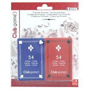 DÉS - JEU DE DÉS Set de 2 jeux de 54 cartes aille Unique Coloris Un