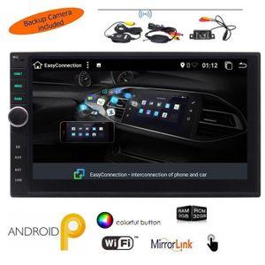 AUTORADIO Caméra de recul sans fil + Android 9.0 Pie Car Ste