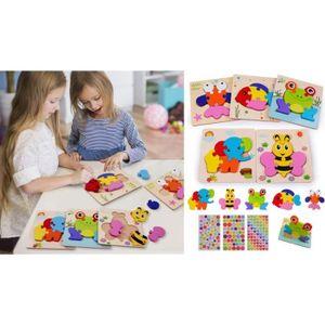 PUZZLE Puzzles en Bois Jouet Bébé 3D Puzzles, Jouets Mont