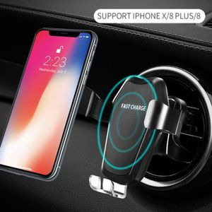 Support voiture qi iphone x