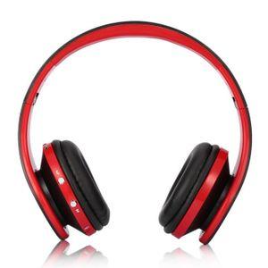 CASQUE - ÉCOUTEURS Casque audio bluetooth stéréo sans fil pliable pou