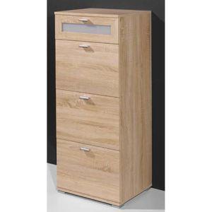 CHIFFONNIER - SEMAINIER Chiffonnier avec 4 tiroirs en bois coloris chêne s