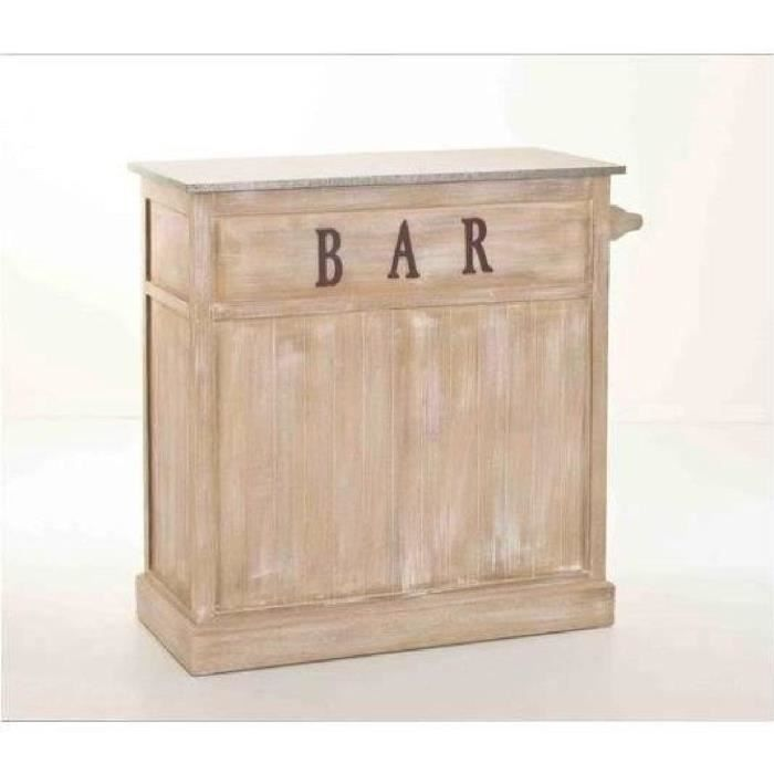 Seville table bar multiples casiers de rangement 109x46 cm for Meuble bar rangement