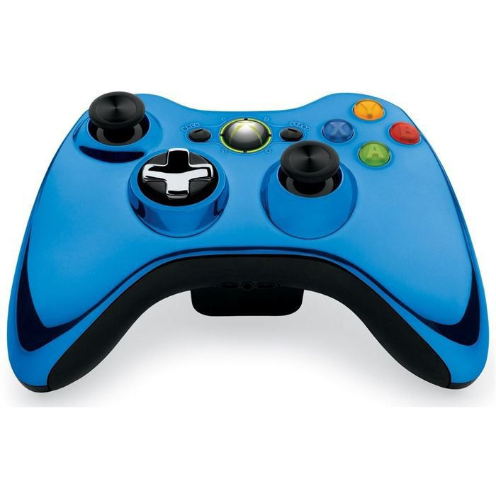 manette sans fil chrome blue xbox 360 achat vente manette console manette sans fil chrome. Black Bedroom Furniture Sets. Home Design Ideas