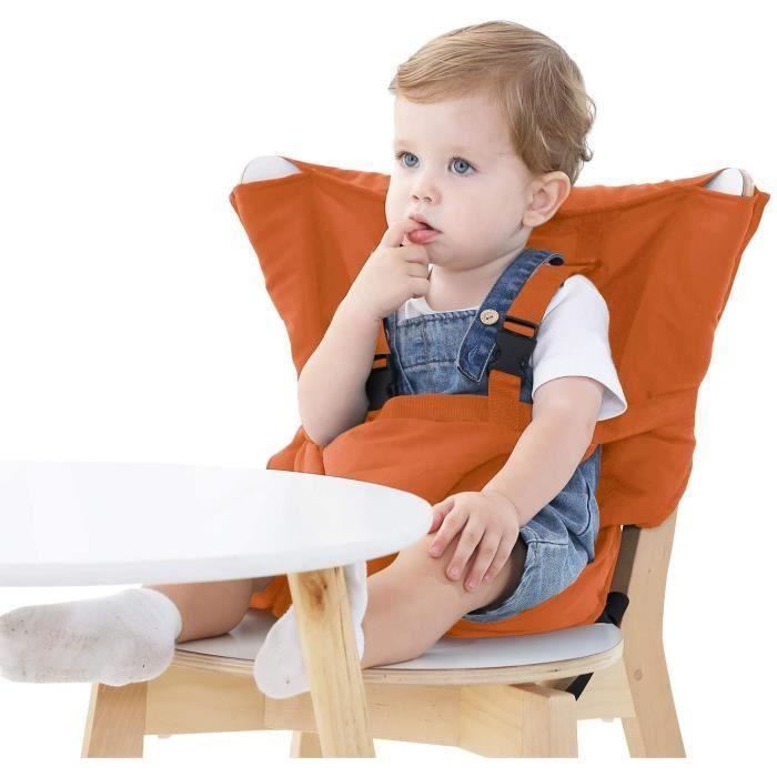 Chaise Haute de Voyage Portable Easy Seat - Rehausseur Chaise Enfant,Housse de Siège pour Chaise Haute Toddler - Réglable, Sécurité,