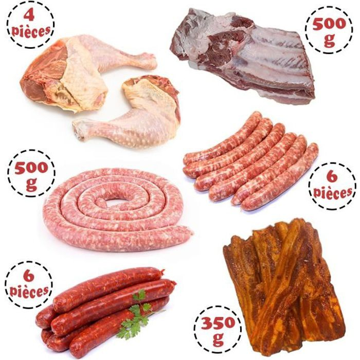 Colis de Grillades complet - Assortiment de viandes françaises à griller - Viandes origine France