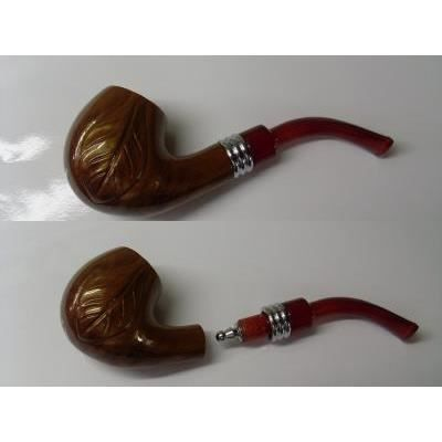 pipe marron feuille